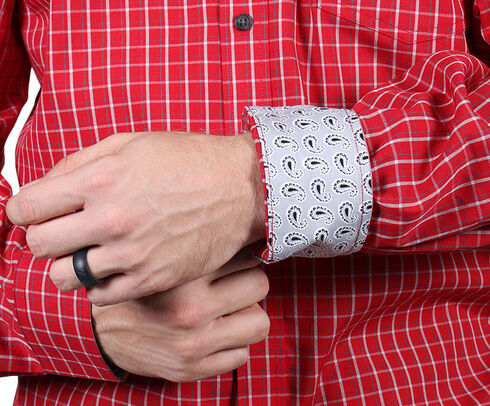 Cody James Core Men's Red Checkered Print Shirt, Red, hi-res