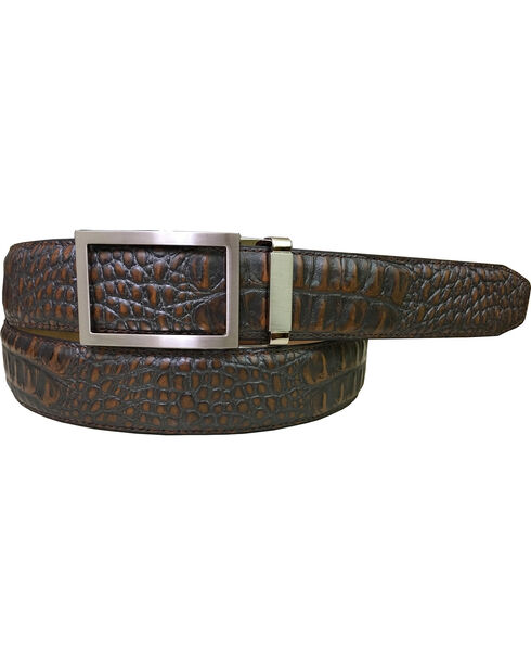 Danbury Men's Brown Genuine Leather Belt , Brown, hi-res
