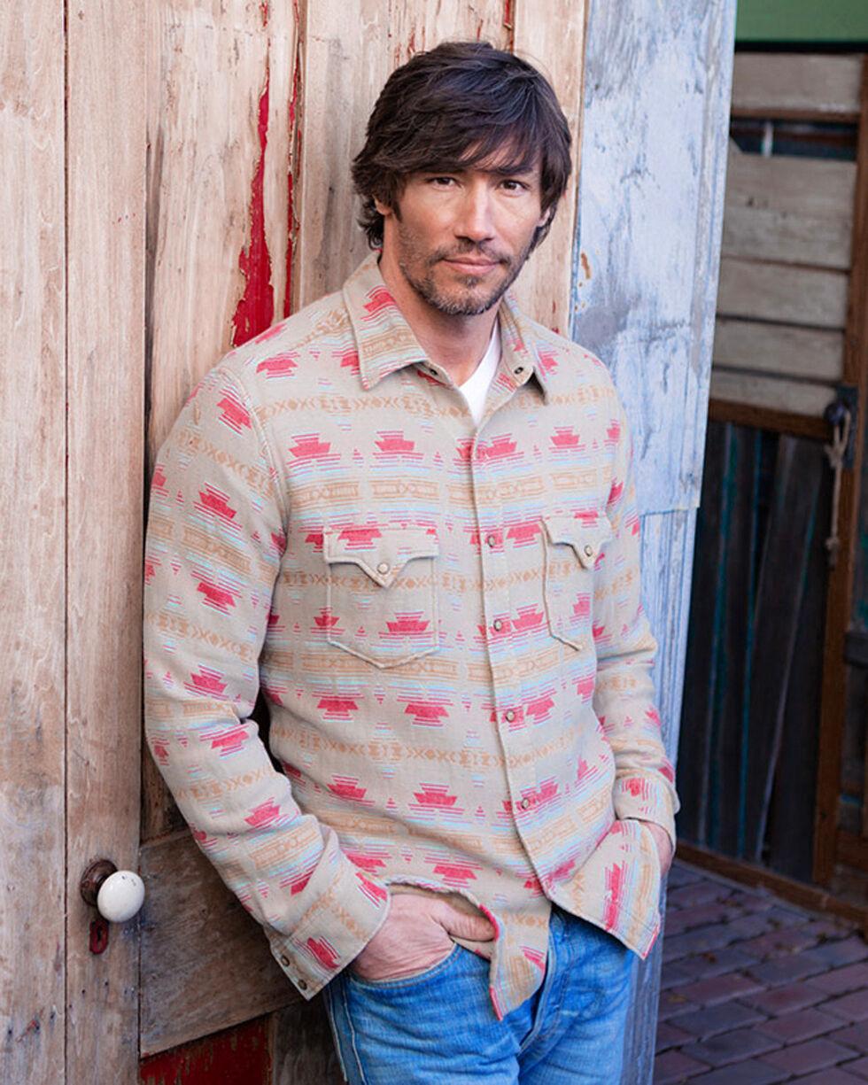 Ryan Michael Men's Tucson Jacquard Shirt , Red, hi-res
