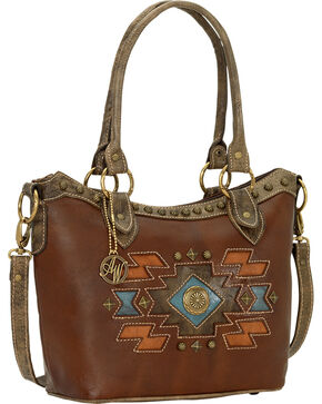 American West Zuni Passage Convertible Tote Bag, Chestnut, hi-res