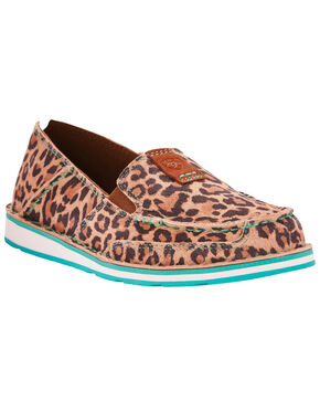 Ariat Women's Cheetah Print Cruiser Slip On Shoes - Moc Toe, Cheetah, hi-res