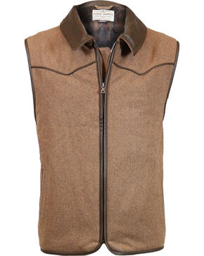 Cody James Men's Rifleman Insulated Wool Vest - Big, Oatmeal, hi-res