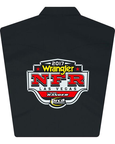 Wrangler Men's Black NFR Logo Long Sleeve Shirt , Black, hi-res