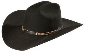 Stetson 4X Portage Buffalo Felt Cowboy Hat, Black, hi-res