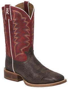 Tony Lama Cafe Bonham 3R Stockman Boots - Square Toe, , hi-res