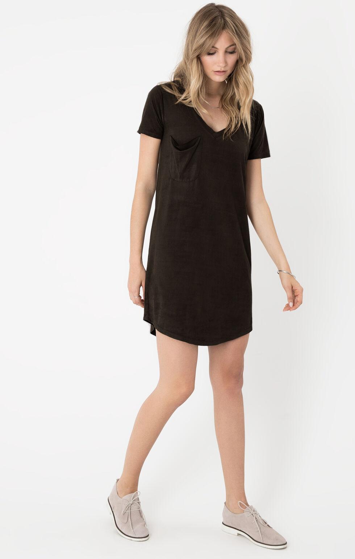 Z Supply Women's Black The Suede Dress, Black, hi-res