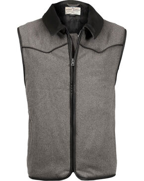 Cody James Men's Rifleman Insulated Wool Vest - Big, Charcoal, hi-res