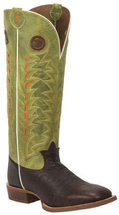 Tony Lama Verde Choco Jasper 3R Buckaroo Cowboy Boots - Square Toe , , hi-res