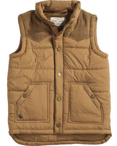 Cody James Boys' Arctic Puffer Vest, Brown, hi-res