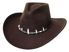 Bullhide Jimmy Rifle Face Off 4X Premium Wool Cowboy Hat, Brown, hi-res