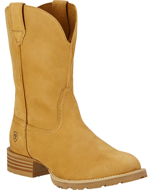 Ariat Hybrid Street Side Cowboy Boots - Round Toe, Wheat, hi-res