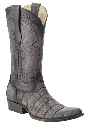 Corral Alligator Cowboy Boots - Round Toe, Grey, hi-res