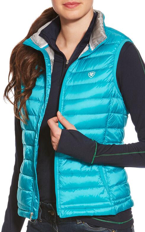 Ariat Women's Lanai Blue Ideal Down Vest , , hi-res