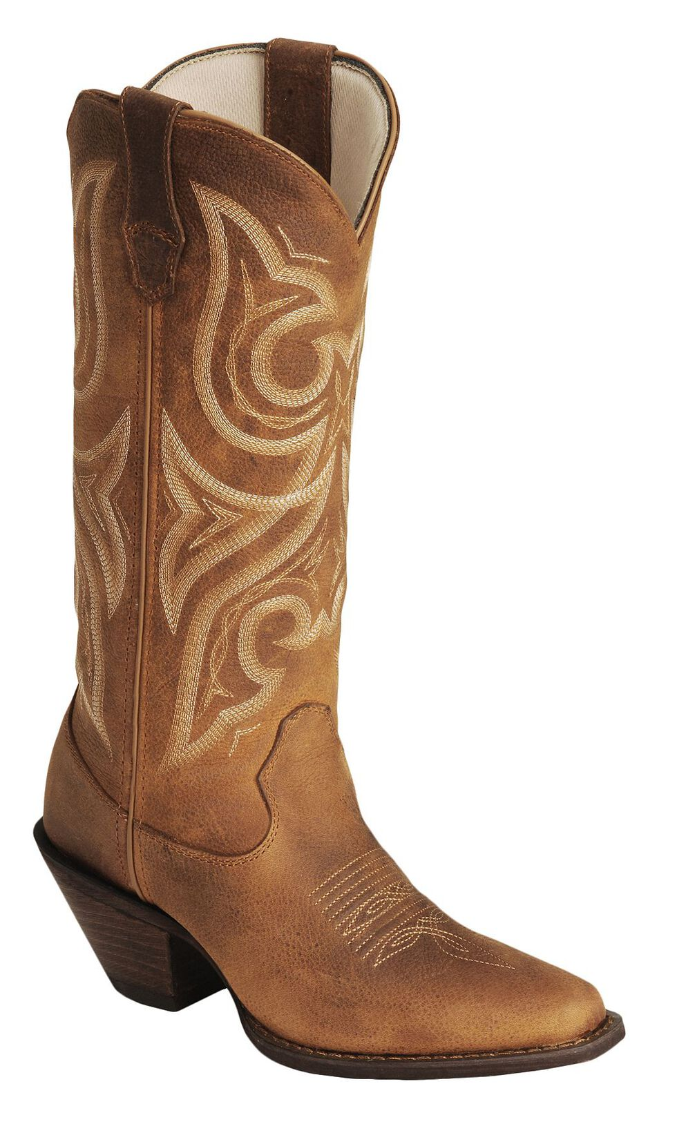 Crush by Durango Women's Jealousy Western Boots - Square Toe, Cognac, hi-res