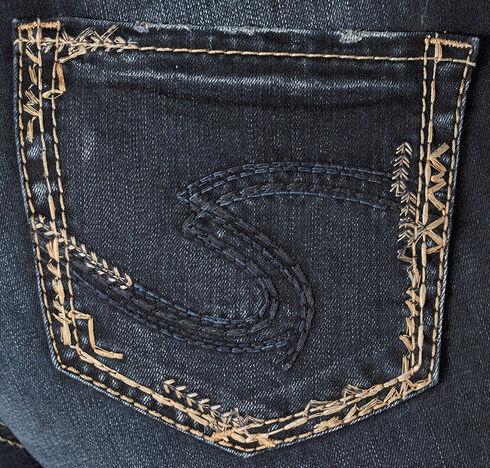 Silver Women's Elyse Mid Slim Boot Dark Wash Jeans - Plus, Blue, hi-res
