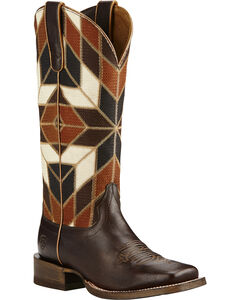 Ariat Mirada Bittersweet Chocolate Cowgirl Boots - Square Toe, , hi-res