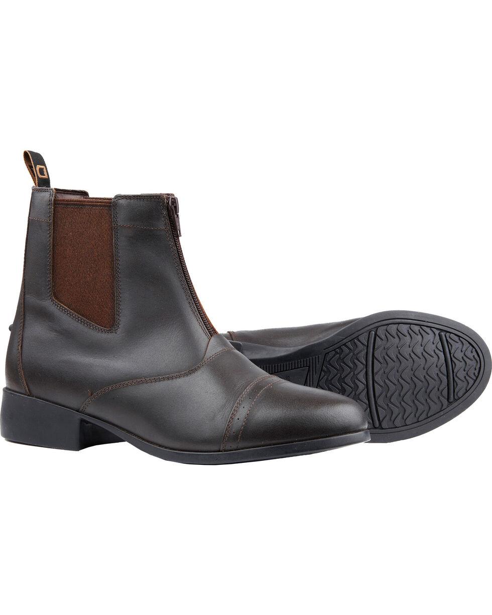 Dublin Foundation Zip Paddock Brown Equestrian Boots, Brown, hi-res