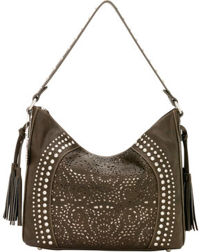 Bandana by American West Mesa Collection Slouch Hobo Shoulder Bag, Chocolate, hi-res