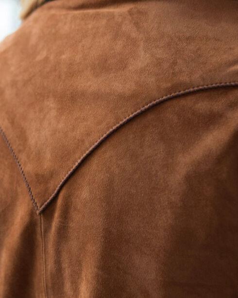 Ryan Michael Women's Tan Leather Whip Stitch Dress , Tan, hi-res