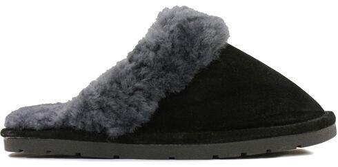 Lamo Dije California Women's Scuff Slippers , Black, hi-res
