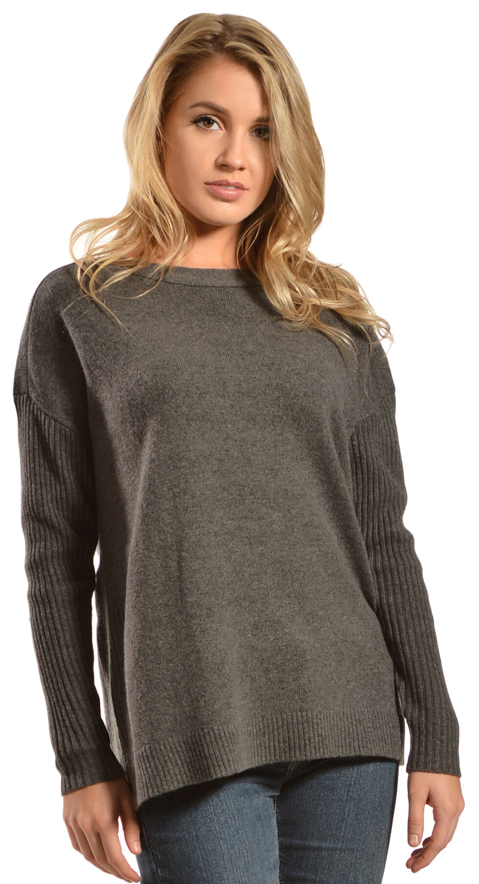 Woolrich Women's Clapshaw Boxy Scoop Shirt, Charcoal Grey, hi-res