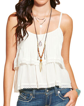 Ariat Women's Ginger Tank, White, hi-res