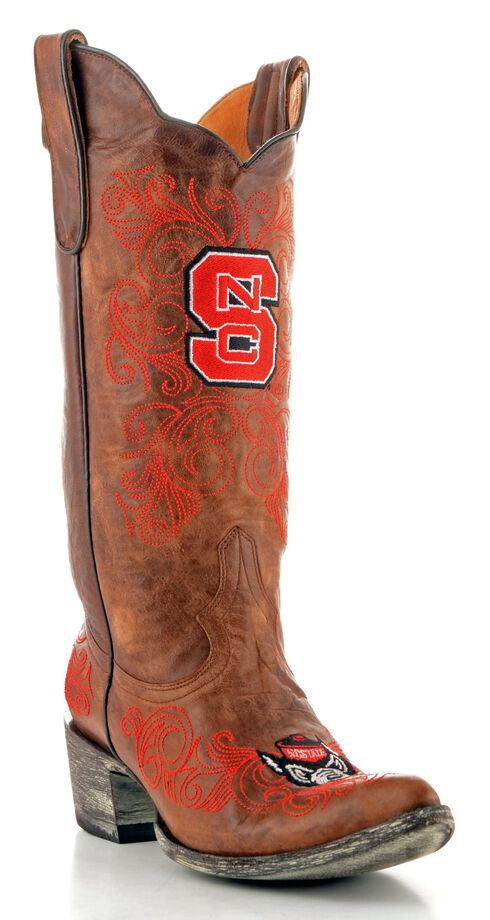 Gameday North Carolina State University Cowgirl Boots - Pointed Toe, Brass, hi-res