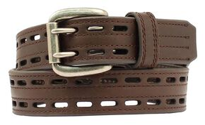 Nocona HDX Double Hole Belt, Brown, hi-res
