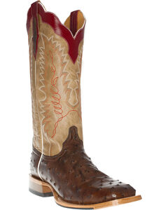 Cinch Men's Full Quill Ostrich Tall Western Boots - Square Toe, , hi-res