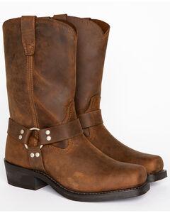 Cody James Men's Brown Harness Boots - Square Toe, , hi-res