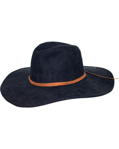 Peter Grimm Women's Black Bardot Floppy Hat , Black, hi-res