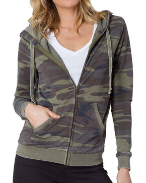 Z Supply Women's Camo Zip Hoodie, Camouflage, hi-res