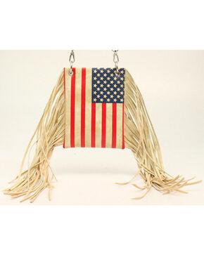 Blazin Roxx Women's American Flag Fringe Crossbody Bag, Multi, hi-res
