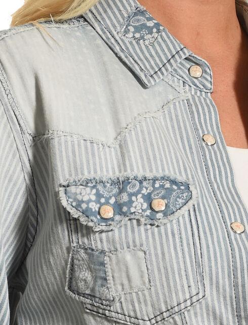 Tasha Polizzi Women's Blue Austin Shirt , Blue, hi-res