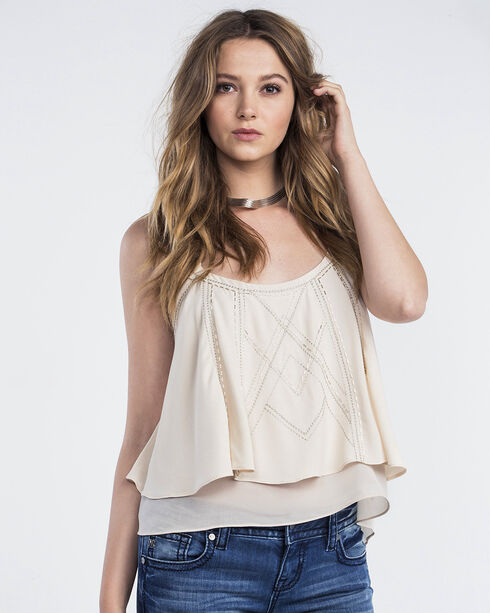 Miss Me Women's Ever Lasting Camisole , Ivory, hi-res