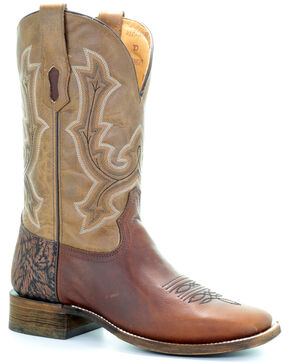 Corral Men's Tan Tyson Durfey Performance Line TD Boots - Square Toe , Tan, hi-res