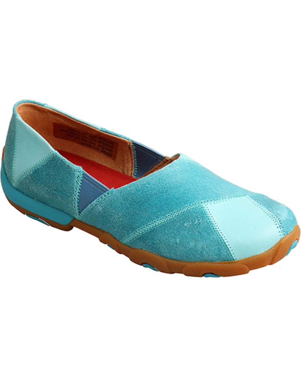 Twisted X Women's Ocean Blue Driving Moccasins, Blue, hi-res