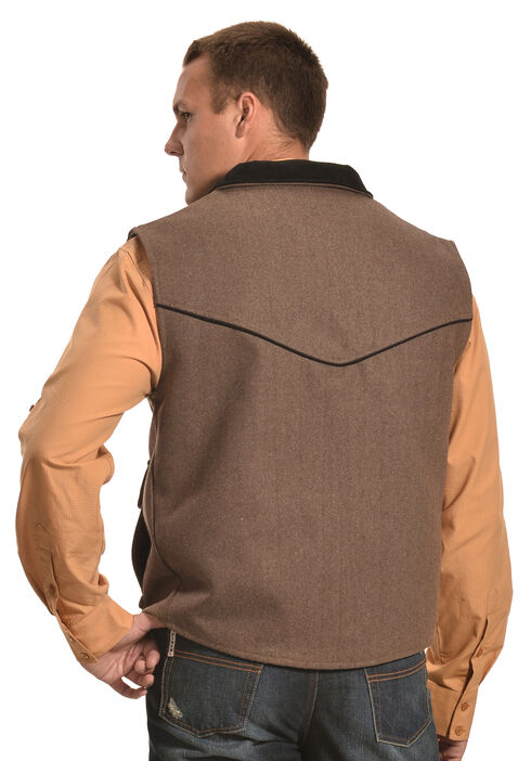 Crazy Cowboy Men's Taupe Rancher Vest , Taupe, hi-res