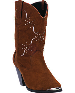 Dingo Women's Sonnet Cowgirl Boots - Medium Toe, Chocolate, hi-res