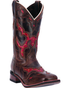 Laredo Women's Paprika Cowgirl Boots - Square Toe, , hi-res