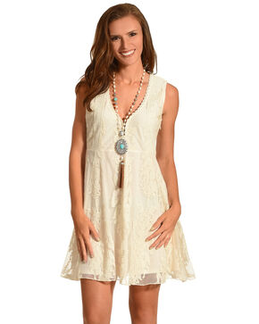 Shyanne Women's Lace Sleeveless Dress, Natural, hi-res