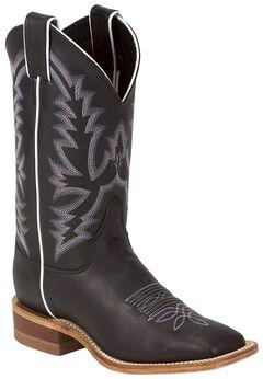 Justin Bent Rail Burnished Calf Cowgirl Boots - Square Toe, , hi-res