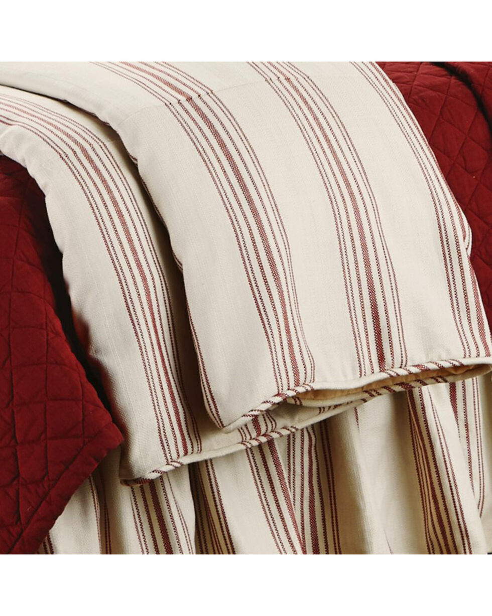 HiEnd Accents Prescott Striped Super King Size Duvet, Red, hi-res