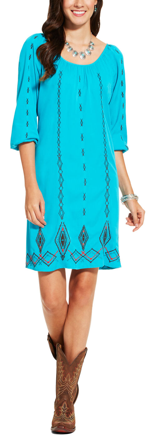 Ariat Women's Blue Wander Dress, , hi-res