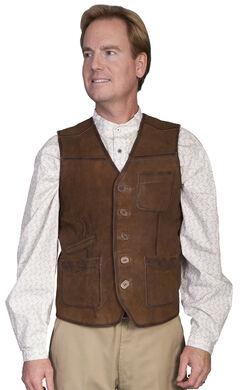 Scully Lamb Suede Vest, Brown, hi-res
