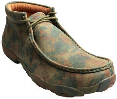 Twisted X  Men's Camo Leather Driving Mocs, , hi-res