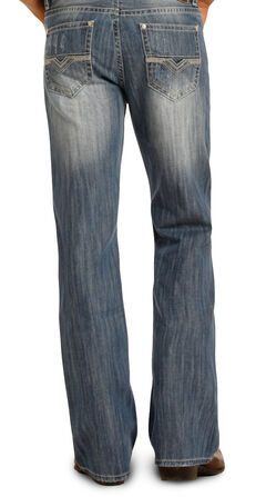 Rock & Roll Cowboy Men's Blue Double Barrel Jeans - Boot Cut , , hi-res