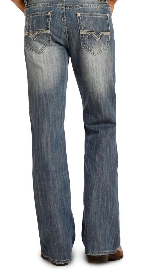 Rock & Roll Cowboy Men's Blue Double Barrel Jeans - Boot Cut , Blue, hi-res