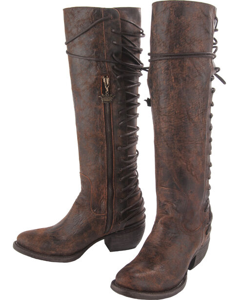 Junk Gypsy by Lane Women's Idlewood Tall Lace Up Boots - Round Toe, , hi-res