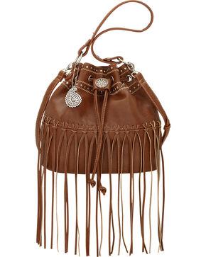 Bandana by American West Brown Rio Rancho Drawstring Crossbody Bag, Brown, hi-res